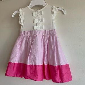 Baker Baby girls dress 12-18 months Pink and White